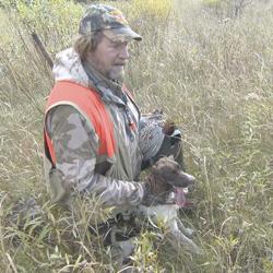 A caça de aves no Minnesota.